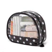 THINKTHENDO PVC Portable Travel Cosmetic Bag Transparent Case Toiletry Bathing Organizer Toiletry Bag Bath Wash Make up Box