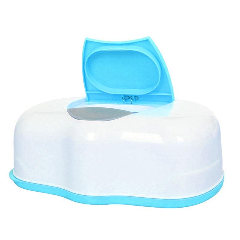 Home Wipe Holder Box Plastic Baby Wipes Dispenser Tub Tissue Case Diaper Organizer Portable Wet Tissue Box