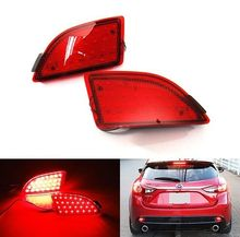For Mazda 3 Axela BM 5D Hatchback 2014+ Red Lens Bumper Reflector LED Tail Stop Light For Mazda3