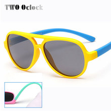 Polarized Kids Oval Sunglasses TAC TR90 Pilot Soft Frame Baby Boys Girl Sun Glasses UV400, Child Children Outdoor Goggles 893(China)