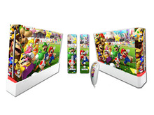 Mario Vinyl Skin Sticker Protector for Nintendo Wii and controller skins Stickers WII-065