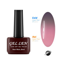 GEL LEN Temperature Color Changing Gel Nail Polish 60 Colors French Manicure Gray Pink Soak off LED UV Gel Polish