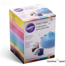 Free shipping America Wilton Double sugar cake pigment color paste food baking wilton 12 color pigment(China)