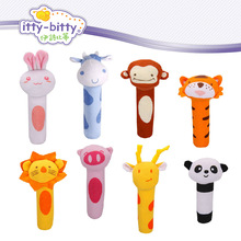 hot! Itty Bitty 13cm Baby Rattle Stuffed Plush Doll Toy BIBI Bar Stick pig Animal Squeaker Toys Infant Hand Puppet Enlightenment(China)