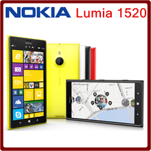 Original Nokia Lumia 1520 Windows 8 Quad Core 2GB RAM Camera 20MP NFC Bluetooth 4.0 GPS 3G 4G moblie phone free shipping