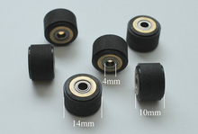 6pcs/lot 4 x 10 x 14mm Silica Gel Pinch Roller Wheel for MIMAKI Vinyl Cutter Plotter(China)