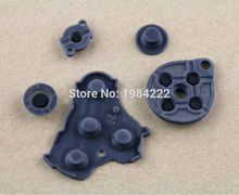 10sets/lot Black High quality For Nintendo GameCube NGC Controller Conductive rubber Silicone Button Pad Replacements