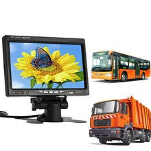 "7"" TFT LCD Car Monitor Parking Assistance Car rear view camera with mirror monitor Backup Reverse Auto TV Monitor Car DVD Screen"
