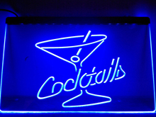 LB522- Cocktails Rum Wine Lounge Bar Pub LED Neon Light Sign(China)
