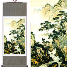 "High Quality Large Size""Mountains&Waterfall"" Chinese Traditional Painting Framed Wall Art Home Decoration Picture Silk Scroll(China)"
