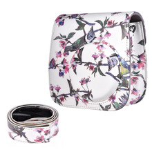 Fujifilm Instax Mini 8 Camera Bag Case PU Pouch Camera Bags with Strap for Fujifilm Instax Mini 8+/8s/8/9 Instant Cameras