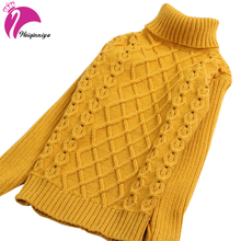 New Arrival Children Sweater Girls For Winter Turtleneck Warm Girls Children Sweaters Preppy Style Girl Boys Sweaters Clothing(China)