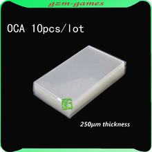 10pcs/lot 250um OCA optical clear adhesive double side glue sticker for iphone 5 5G lcd/digitizer glass(China)