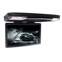 "15.6"" Black Flip Down Car DVD Car Roof DVD Roof Monitor DVD with Built in IR/FM Transmitter & HDMI Port"