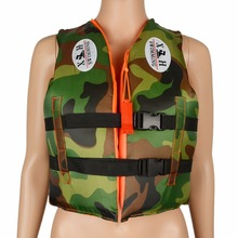 Kids Life Jackets Vest Swimwear With Whistle Camouflage Children Youth Boy Girl(China)