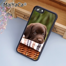 MaiYaCa Chocolate Labrador Puppy Cute Print Soft TPU Mobile Phone Case Funda For iPhone 7 Back Cover Skin Shell(China)