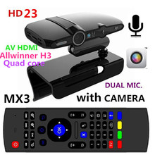 New! 2.0MP and Mic Android TV camera HDMI 1080P 1GB/8GB android 4.4 skype Google Android TV box HD22 + MX3 Air Mouse