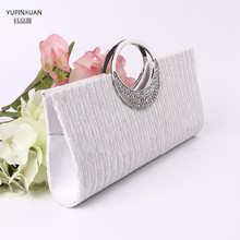 YUPINXUAN new arrival western white luxury evening bride wedding clutch bags ladies crossbody shoulder bags for party