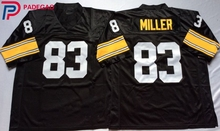 Embroidered Logo Heath Miller 83 black Throwback high school FOOTBALL JERSEY for fans gift cheap 1108-20(China)
