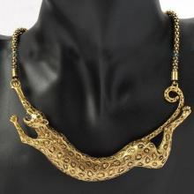 Europe and the United States the new big exaggerated metal new leopard necklace