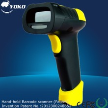 Hand-Held 1D Laser Barcode Scanner  bar code reader with USB2.0 RS-232 PS/2  interface Free shipping For  POS and Inventory