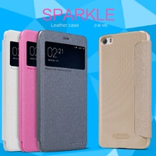 XIAOMI mi5/mi5s Case NILLKIN Sparkle Super Thin Flip Cover Leather Cases XIAOMI mi5 mi5s Design Luxury Brand with Retail Package