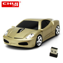 Car Shape Mouse 3D Wireless Mouse 2.4GHz Optical Gaming Mouse 1600DPI USB Receiver Computer Mice Mause Shipped from US(China)