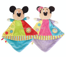 New Mickey Minnie Baby Plush Blankie Toy Newborn Reassure Towel Snuggle Blanket for Kids Girls Boys Preferred 20*20cm