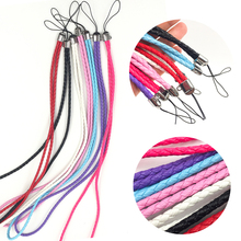 1Pcs Long Women And Leather Lanyard Strap Phone Weaving Hot Universal Men New Rope