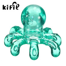 KIFIT Cute Crystal Massage Handheld Octopus Slimming Body Massager For Relieving Neck Abdomen Back Muscle Pain Colors Random