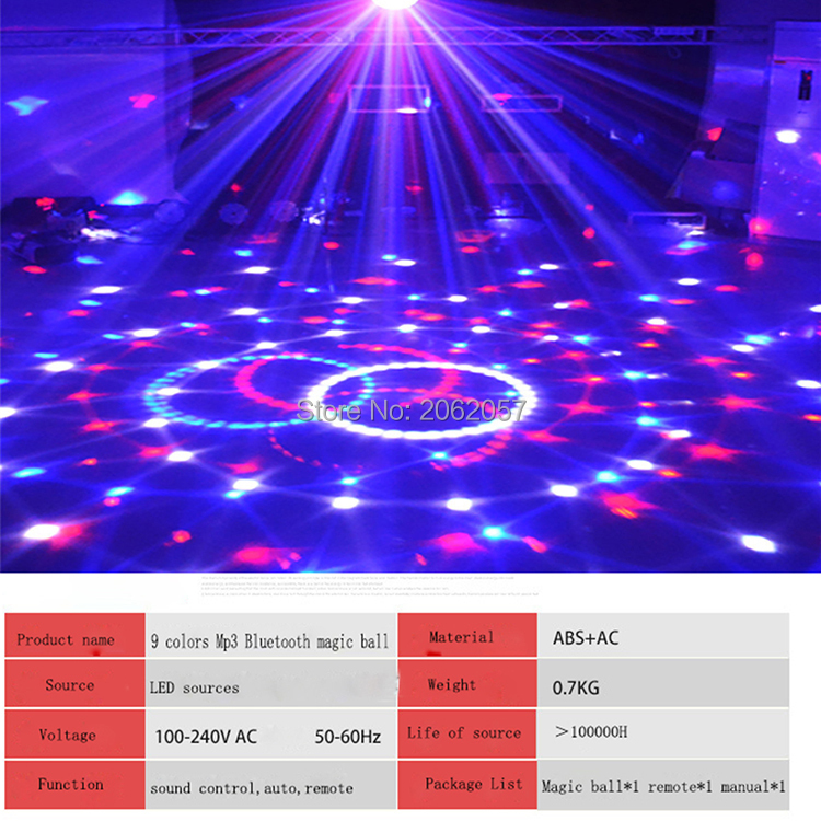 fast shipping Disco ball 256 carfacetadoras lens crystal ball wireless bluetooth projectors for christmas dj wedding party rotating laser light (12)