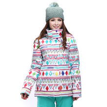 2017 style White Colorful Lady Ski Suits Women Snowboard Clothing 10K waterproof breathable Skiing Jackets Winter Costume