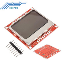 84x84 84*48 LCD Screen Display Module Red Backlight Pcb Adapter For Nokia 5110