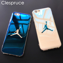 Clespruce Fashion Michael SuperNBA Jordan 23 Chicago soft Blu-ray laser Phone Case Back Cover For iPhone X 7 6 6s 8 Plus Cases(China)