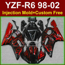 O8EC New red flame fairing set for YAMAHA R6 98 99 00 01 02 YZF R6 fairing kit 1998 1999 2000 2001 2002 fairings parts O9RG