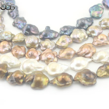 Free Shipping 16mm 5 Colors Natural Flower Irregular Freeform Keshi Freshwater Pearl Jewelry Beads Strand 15""