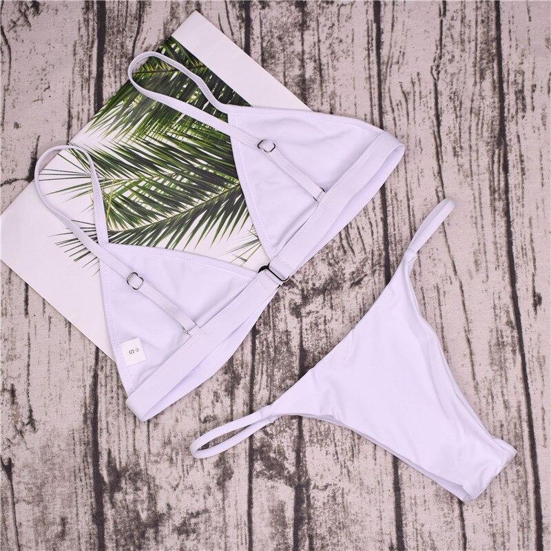 19 Sexy Bikini Set Brazilian Cut Swimsuit Women Swimwear Halter Biquinis Retro Style Cheeky Simple Thong Bikinis Hot maillot 14