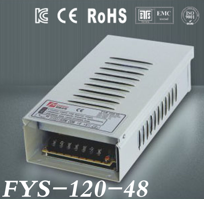 48V 2.5A 120W rainproof Switching led Power Supply,170~264V AC input 48V DC output for led strips free shipping<br>