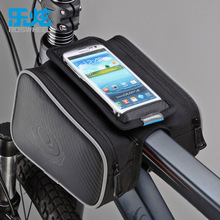 "ROSWHEEL Touchscreen Cycling Bicycle Front Top Tube Frame Double Bag for 5"" and 5.7"" Cellphone Phone"