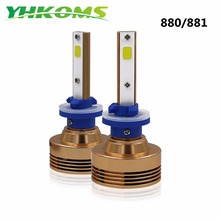 YHKOMS 880 890 892 LED Bulbs for DRL or Headlight Xenon White 4000lm 881 893 899 COB Chips Conversion Kit Good Beam Pattern