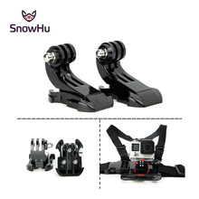 SnowHu 2pcs For GoPro Accessories 3-Way Pivot Arm Mount Assembly Extension Straight Joint For Gopro Hero 5 4 3+ Xiaomi yi GP20(China)