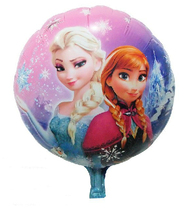 18inch 45cm Round Printed Theme Foil Balloon,inflatable  Frozen Cartoon Mylar Balloon  for children party