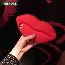 YESPURE Fancy 3D Silicone Soft Cellphone Case Cover for Iphone 6/6s Lip Women Cover Phone Accessories Luxury Fundas Celular Capa