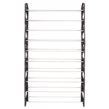 50 PAIRS 10 TIER SHOE SHELF STORAGE RACK EASY ASSEMBLE ORGANISER STAND CUPBOARD(China)