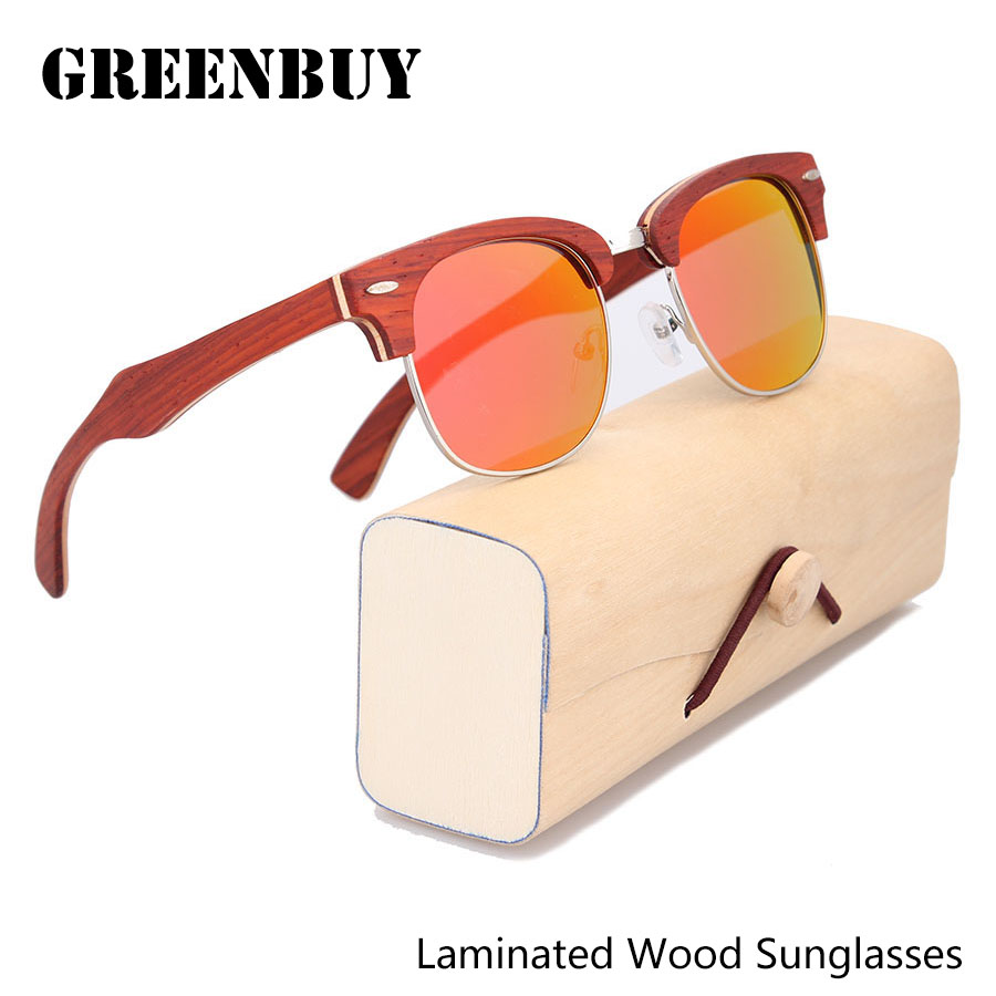 Metal Sunglasses Women UV400 Brand Designer Sun Glasses Mirror Polarized Eyewear Red Wood Frame Womens Ladies Sunglasses<br><br>Aliexpress