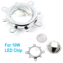 1pc 10w led lens squae reflectors module Reflection cup+1pc 57mm lens +1pc holder for 10w square cob leds(China)