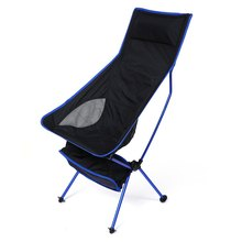 Deep blue Detachable Aluminium Alloy 7050 Extended Chair Folding Fishing Chair for Outdoor Activities