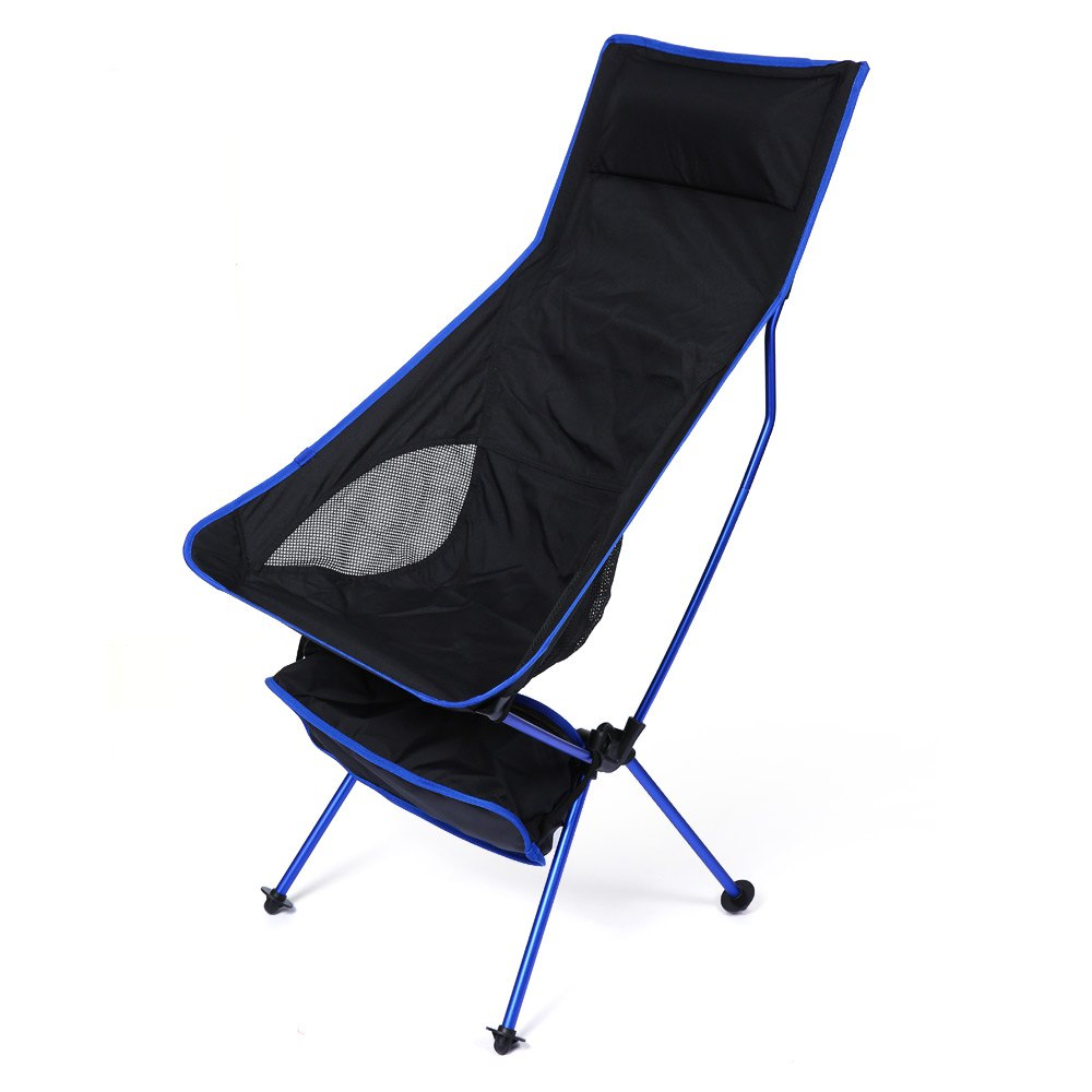 Deep blue Detachable Aluminium Alloy 7050 Extended Chair Folding Fishing Chair for Outdoor Activities<br>
