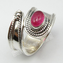 Silver Authentic ROSE Quartzs Finger Ring Size 6 Jewelry Store