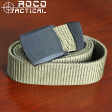 ROCOTACTICAL Mens Tactical Belts Sports Military Training Belts Combat Swat Military Web Belt YKK Belt Buckle Amry Green